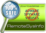 Safe and clean award to RemoteSysInfo from DownloadAtlas
